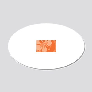 Orange-PillowCase 20x12 Oval Wall Decal