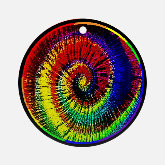 Rainbow Tie Dye Ornament (Round)