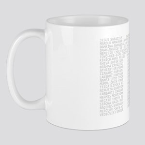 no gods no background white Mug