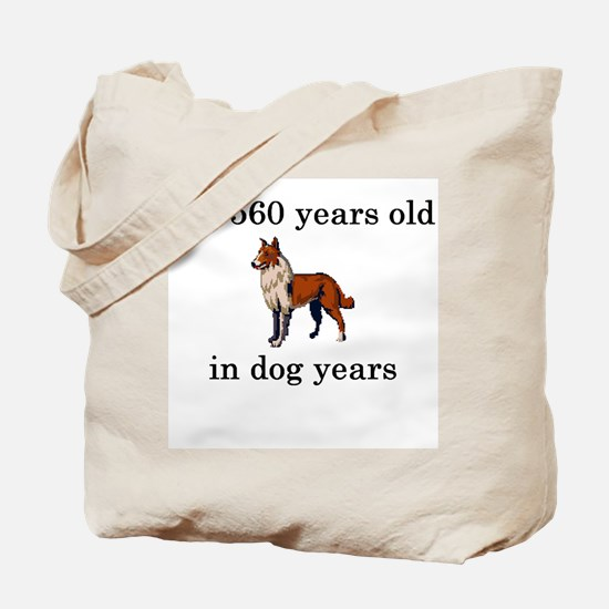 80 birthday dog years collie Tote Bag
