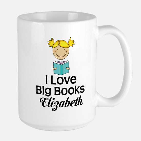 I Love Big Books Personalized Mugs