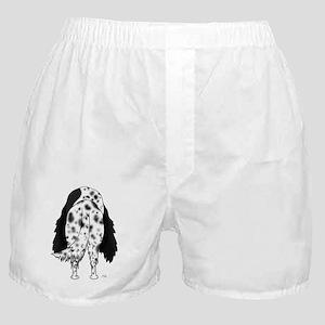 BlkEnglishSetterShirtBack Boxer Shorts