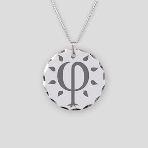 PhiTree_lg_gray Necklace Circle Charm