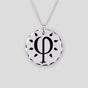 PhiTree_lg_black Necklace Circle Charm