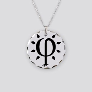 PhiTree_sm_black Necklace Circle Charm