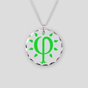 PhiTree_lg_litegreen Necklace Circle Charm