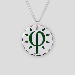 PhiTree_lg_darkgreen Necklace Circle Charm