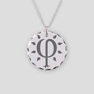 PhiTree_sm_gray Necklace Circle Charm