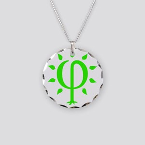 PhiTree_sm_litegreen Necklace Circle Charm