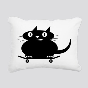 BLACK_LINE Rectangular Canvas Pillow