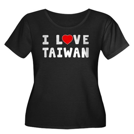 I Love Taiwan Women's Plus Size Scoop Neck Dark T-