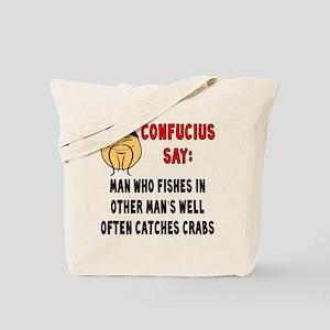 ConfuciusManWhoFishes Tote Bag
