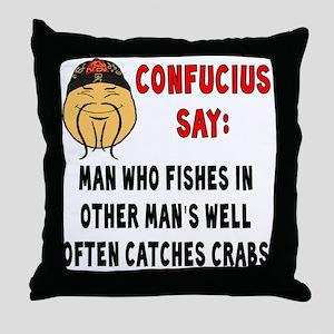 ConfuciusManWhoFishes Throw Pillow