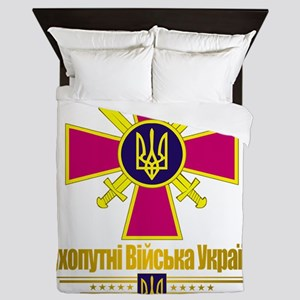 Ukranian Ground Forces (Flag 10)2 Queen Duvet