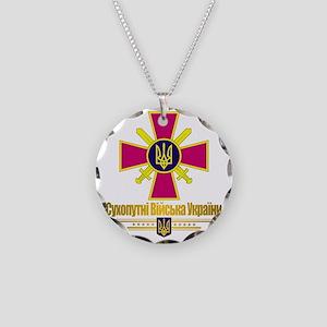 Ukranian Ground Forces (Flag Necklace Circle Charm