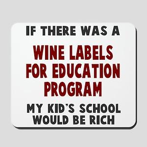 Wine Labels Education Mousepad