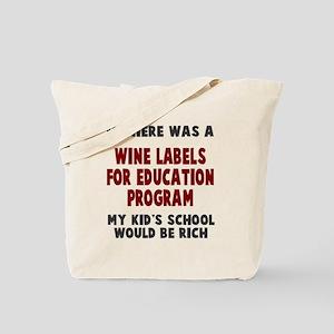 Wine Labels Education Tote Bag