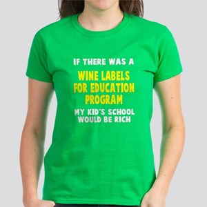 Wine Labels Education Women's Dark T-Shirt