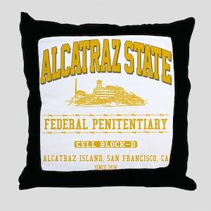 ALCATRAZ_STATE_ycp Throw Pillow