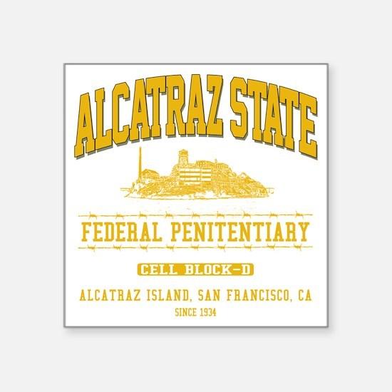 """ALCATRAZ_STATE_ycp Square Sticker 3"""" x 3"""""""