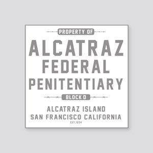 "ALCATRAZ_gcp Square Sticker 3"" x 3"""