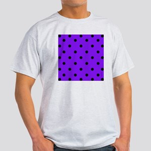 showercurtainpurppolkadot Light T-Shirt