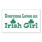 Everyone Loves an Irish Girl Rectangle Sticker