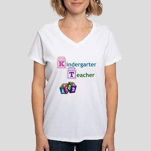 Kindergarten Teacher Women's V-Neck T-Shirt