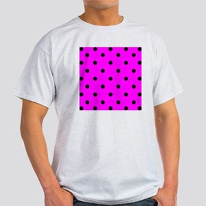 showercurtainpinkpolkadot Light T-Shirt