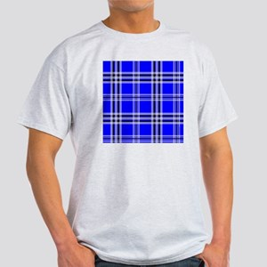 showercurtainblueplaid Light T-Shirt