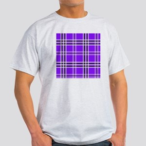 showercurtainpurpplaid Light T-Shirt