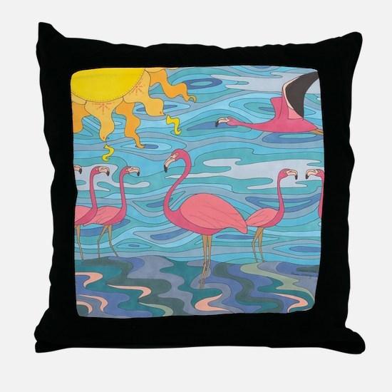 Seeing Pink Throw Pillow