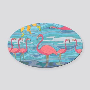 Seeing Pink Oval Car Magnet