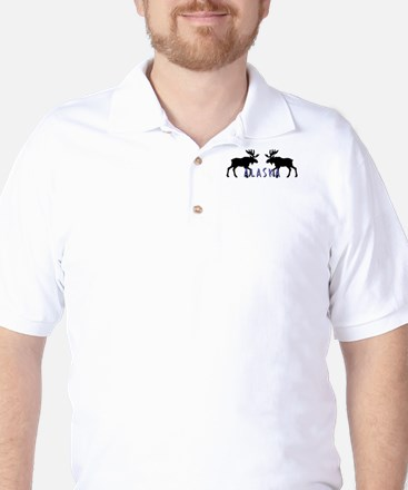 moose silhouette6 Golf Shirt
