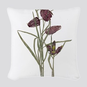 Mackintosh Tulip Design Woven Throw Pillow