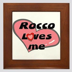 rocco loves me  Framed Tile