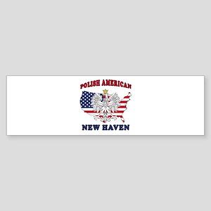 New Haven Connecticut Polish Sticker (Bumper)
