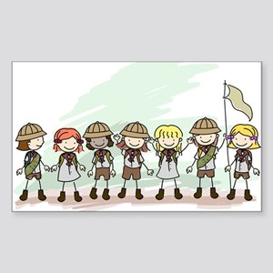 Illustration of Girl Scouts in Sticker