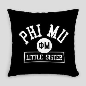 Phi Mu Little Sister Everyday Pillow