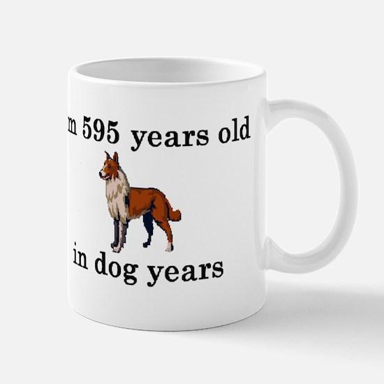 85 birthday dog years collie 2 Mugs