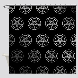 Satanic Pentagrams Shower Curtain