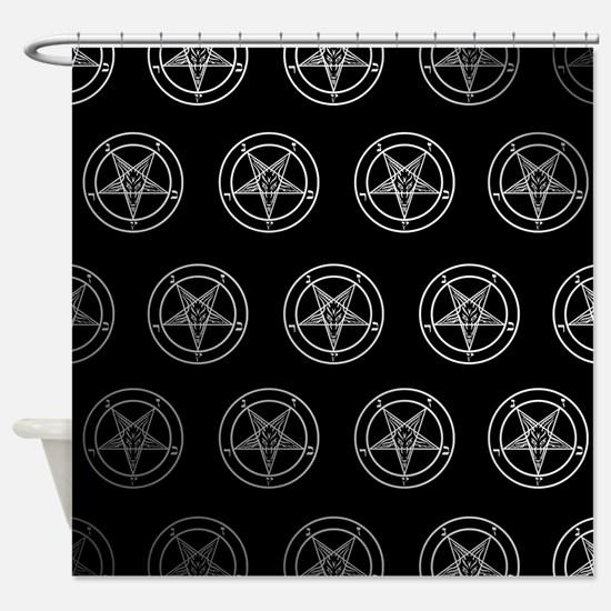 Satanic Pentagrams Shower Curtain