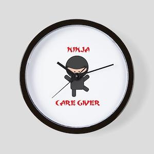 Ninja Caregiver Wall Clock