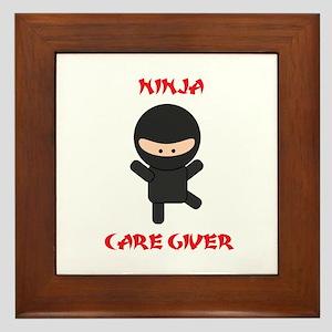 Ninja Caregiver Framed Tile