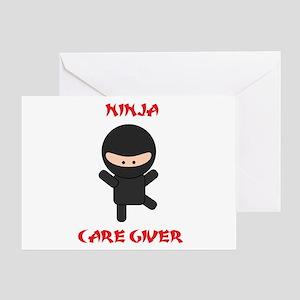 Ninja Caregiver Greeting Card