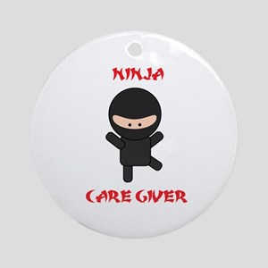 Ninja Caregiver Ornament (Round)