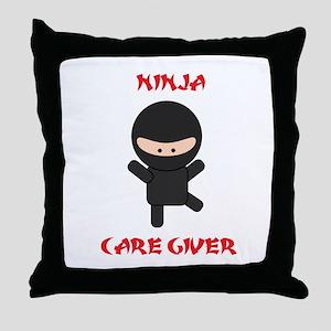 Ninja Caregiver Throw Pillow