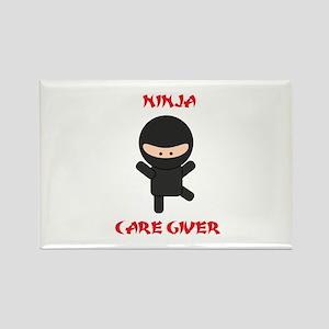 Ninja Caregiver Rectangle Magnet