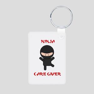 Ninja Caregiver Aluminum Photo Keychain