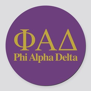 Phi Alpha Delta Round Car Magnet